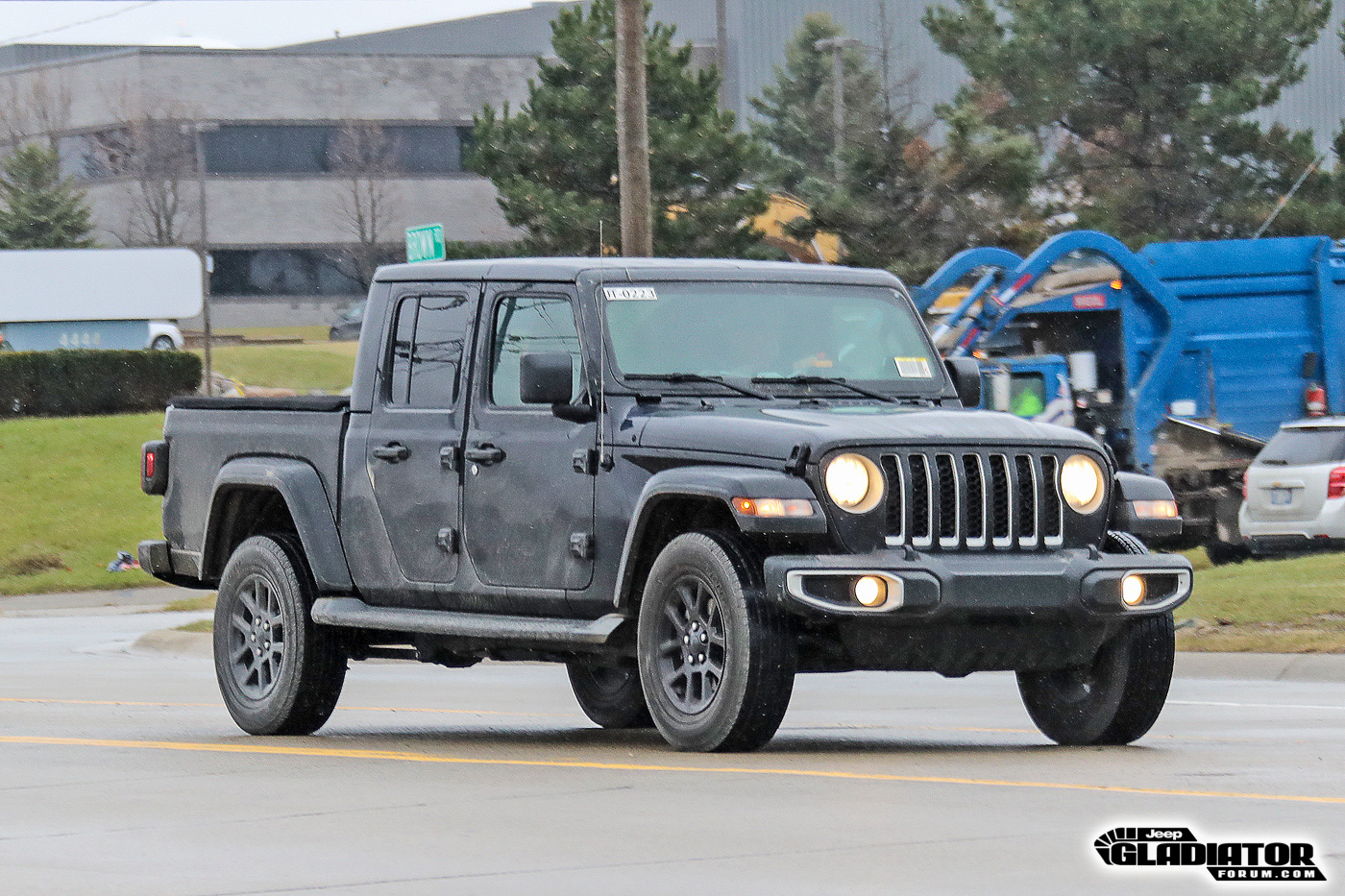 2020 Jeep Gladiator Spotted Testing In Black Overland And Billet