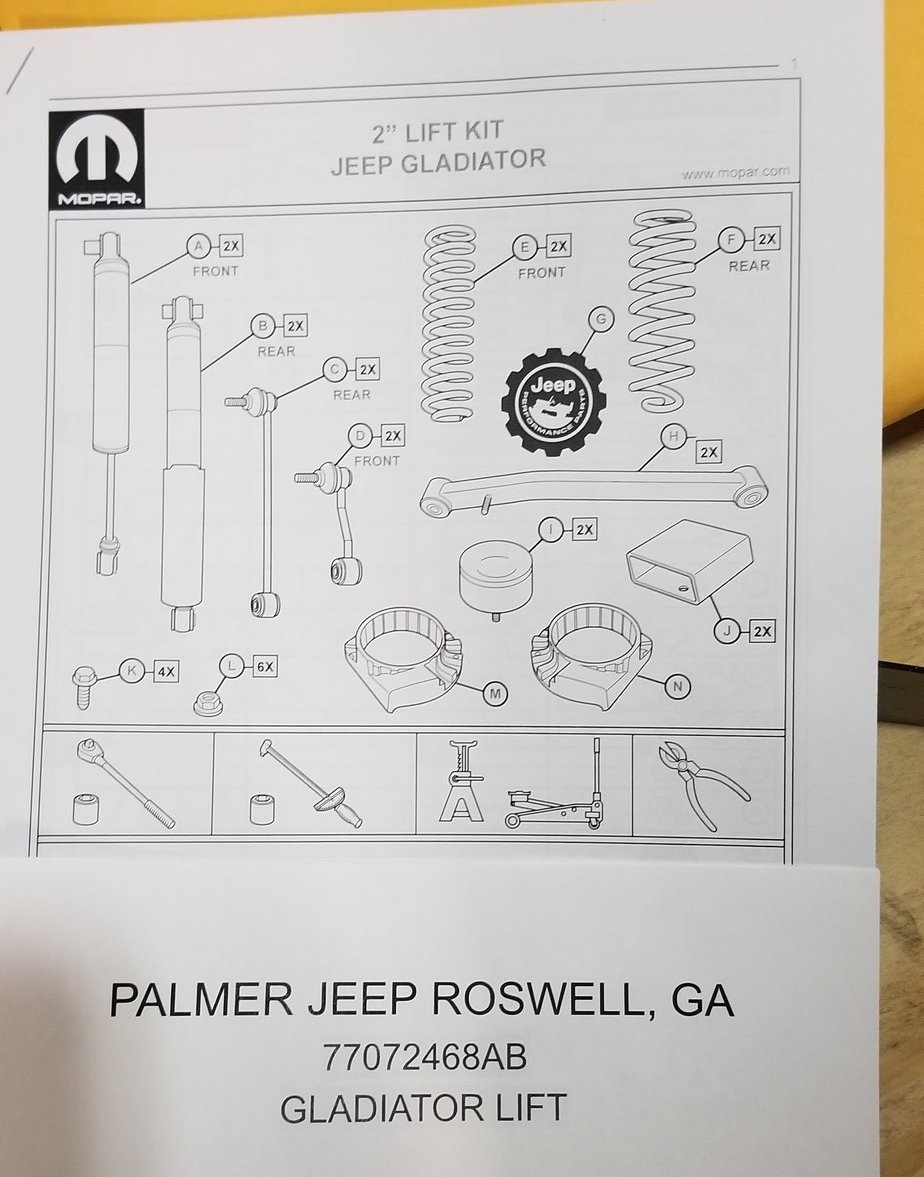 Gladiator Mopar 2 Quot Lift Kit Now Available Jeep Gladiator