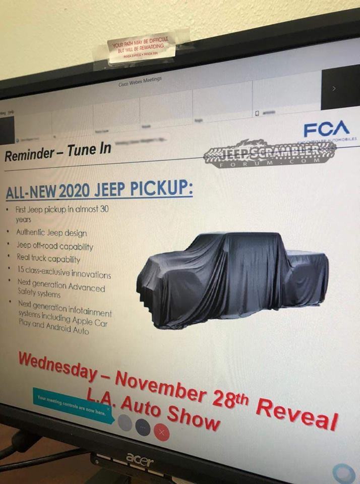 4a600ac66e ALL-NEW 2020 JEEP PICKUP  First Jeep pickup in almost 30 years  Authentic  Jeep design  Jeep off-road capability ...