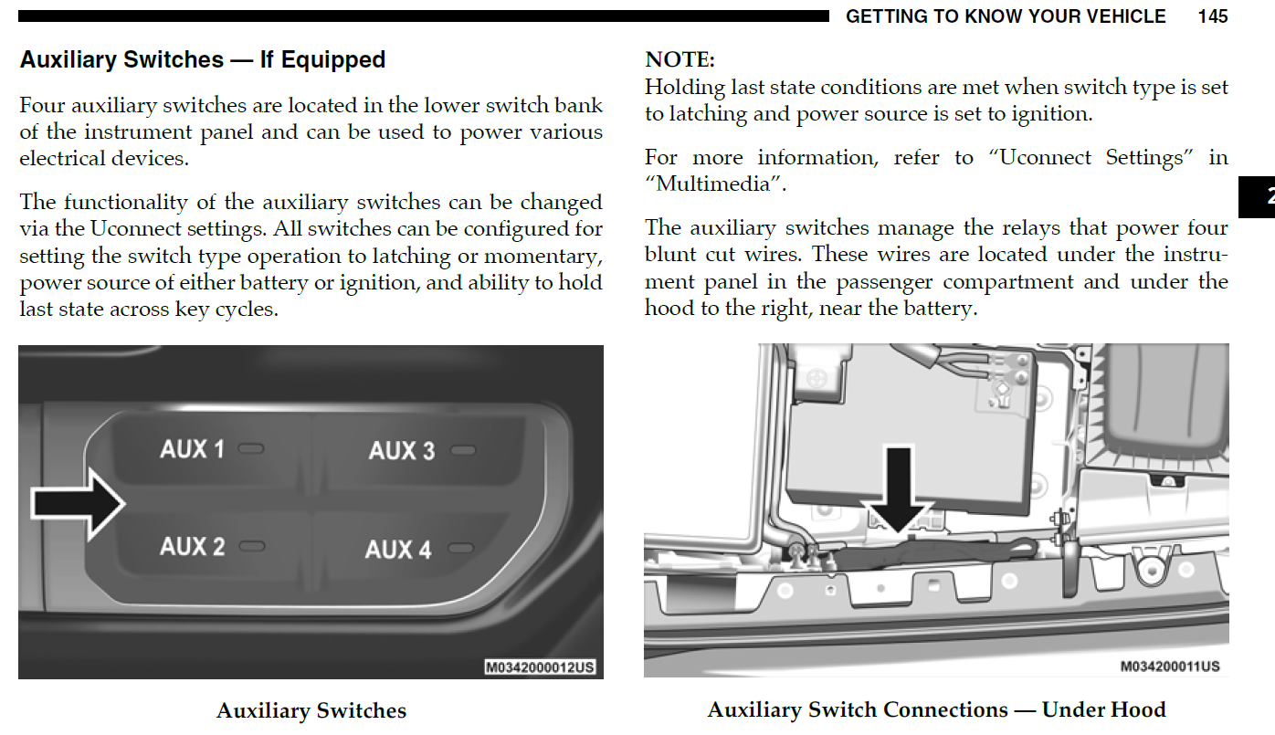 4 Programmable Auxiliary Switches | Jeep Gladiator Forum
