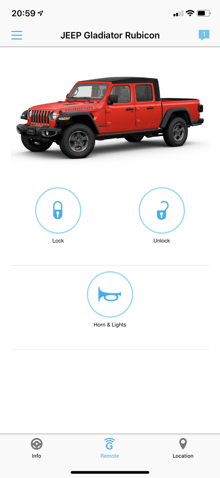 Remote Start With Uconnect App Only Jeep Gladiator Forum Jeepgladiatorforum Com