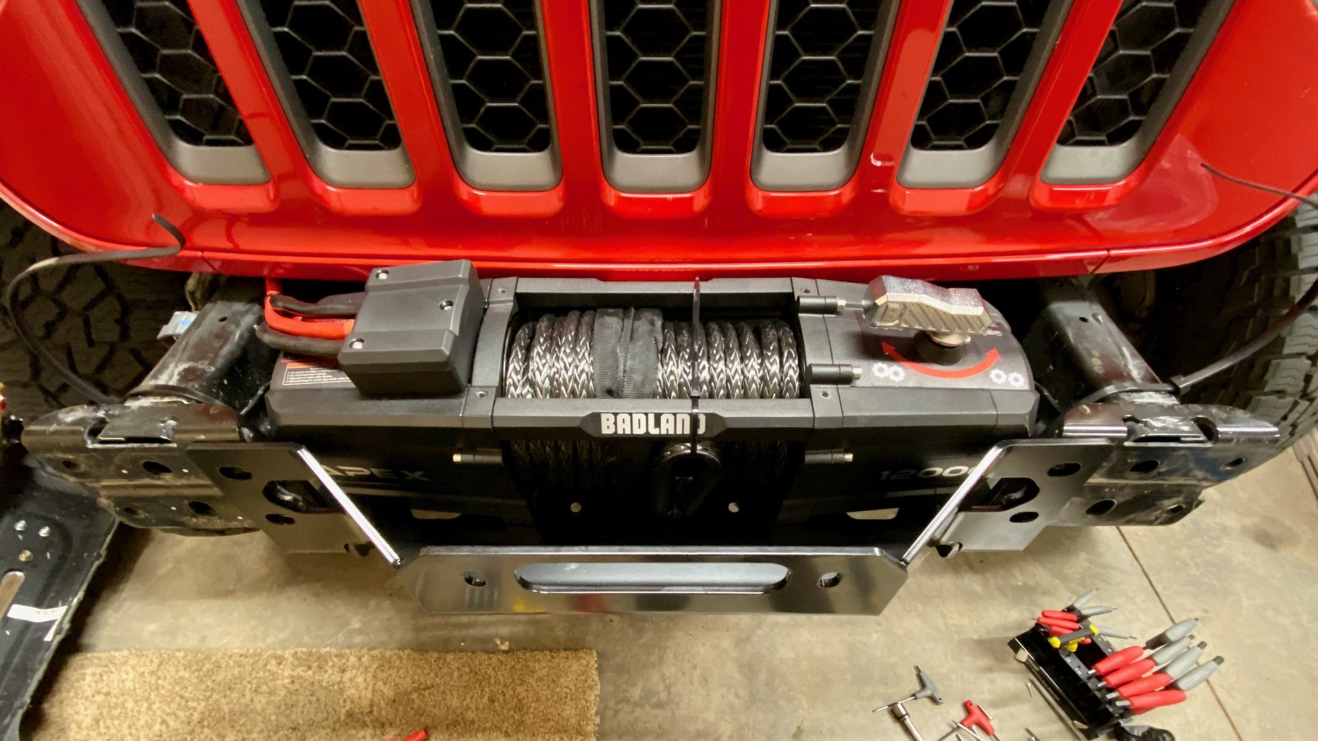 New Apex 12K Harbor Freight winch Install   Page 2   Jeep ...