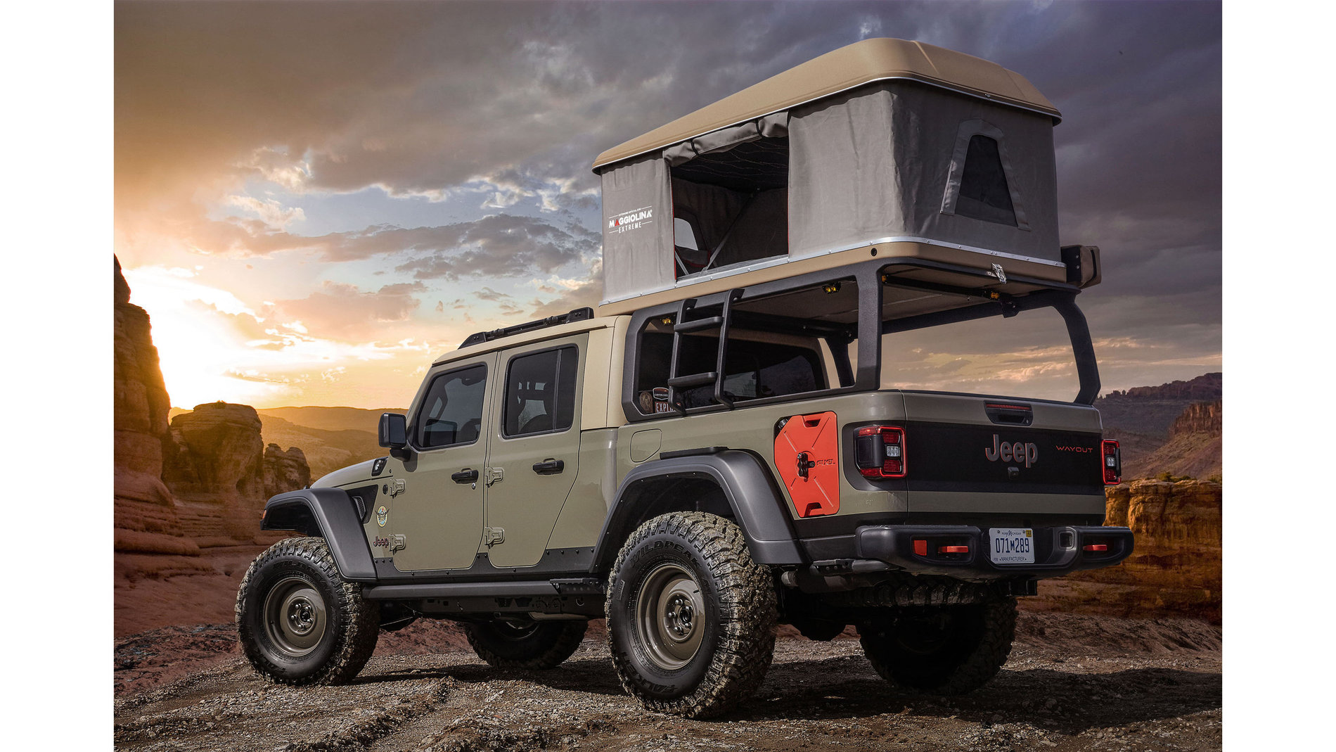 Jeep Gladiator Wayout Concept in Gator Color   Jeep ...