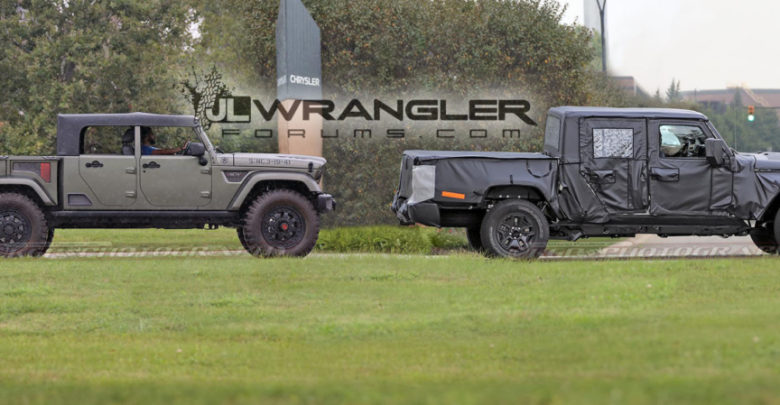 It S Been Photographed Before And Even Caught On Video Parked In An Fca Facility But Here Is Our First Of The 2020 Jeep Scrambler Pickup Jt