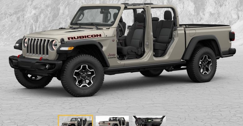 Jeep Gladiator Build Price Configurator Now Live 2020 Jeep
