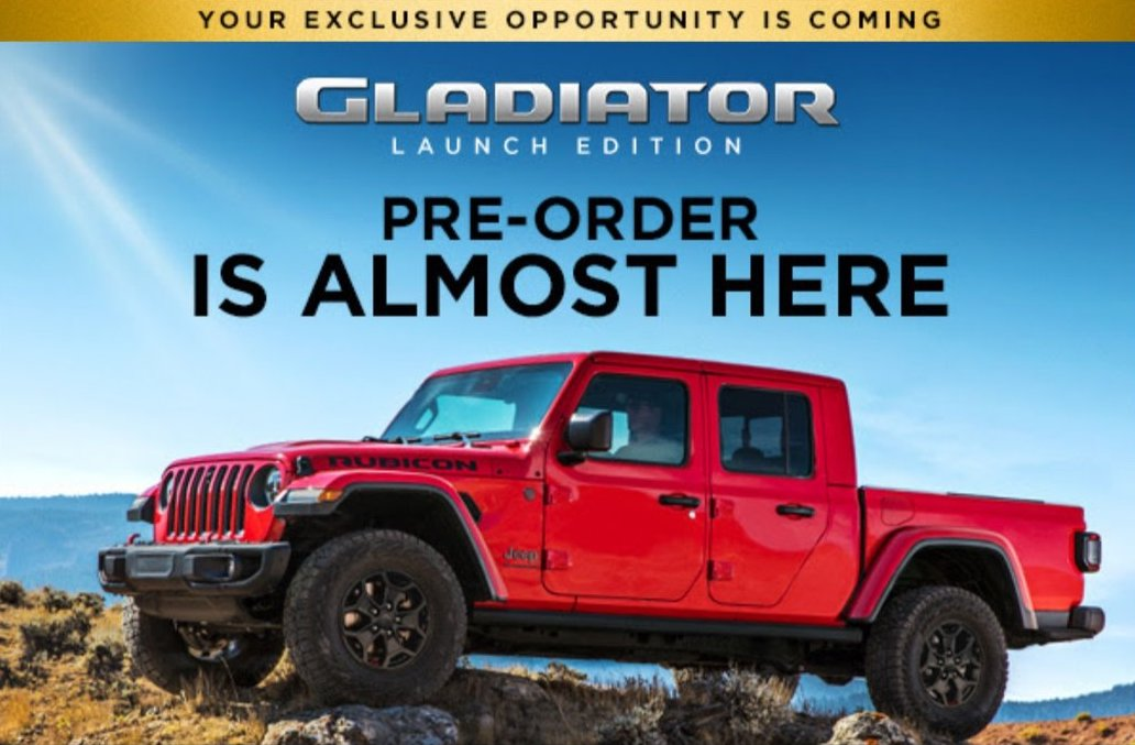 Jeep Invites Select Buyers to Pre-Order Gladiator Launch ...