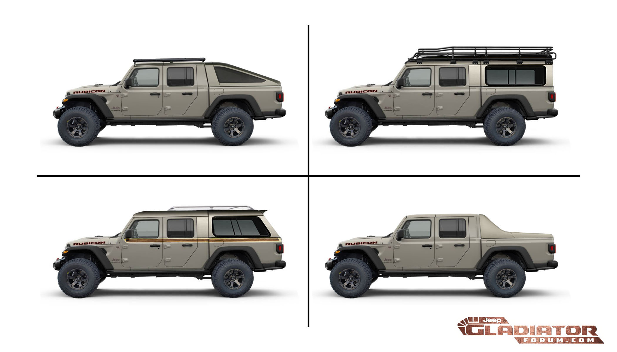 Jeep Gladiator Toppers, Covers, Caps, Racks, Shells ...