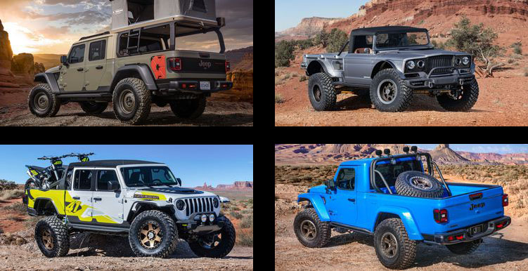 jeep pickup concepts debut   easter jeep safari  jeep gladiator jt news