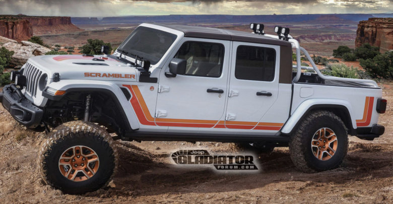 Jeep Gladiator Moab Scrambler Homage Concept Revealed