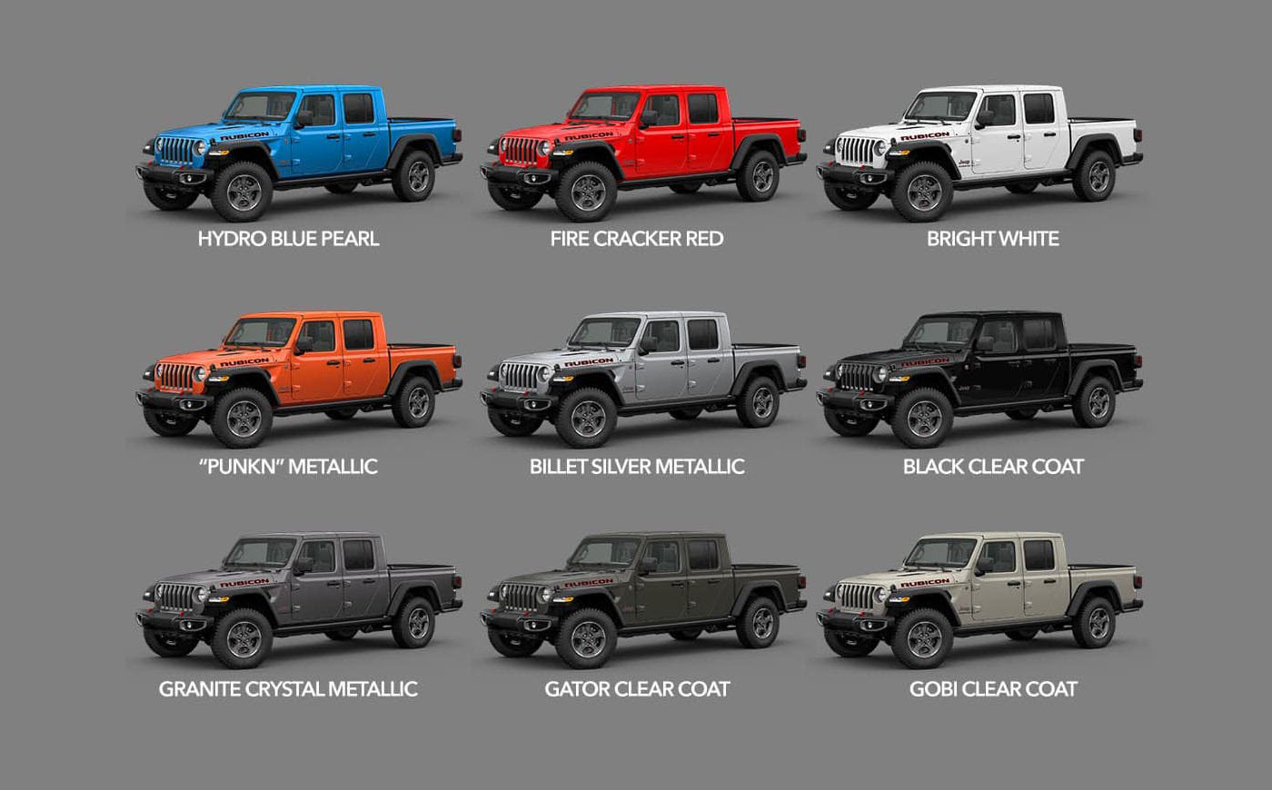 New Jeep Truck Colors