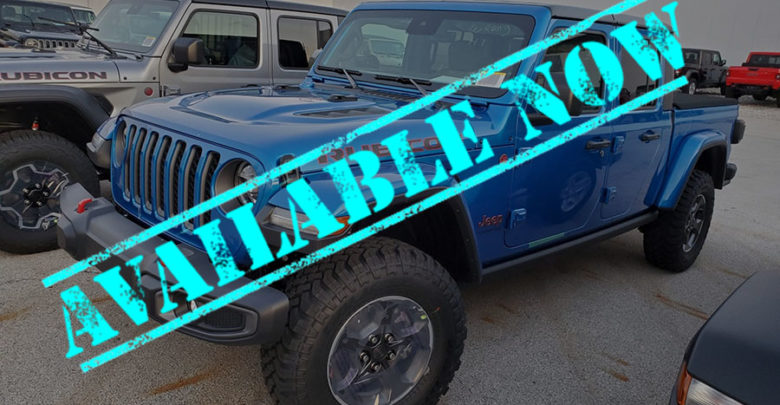 Hydro Blue Jeep Gladiator Now Available To Order 2020